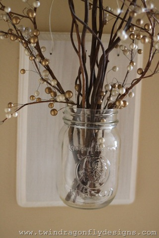 Winter Mason Jar Holder