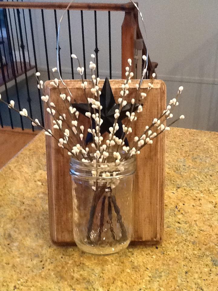 Winter Mason Jar Holder
