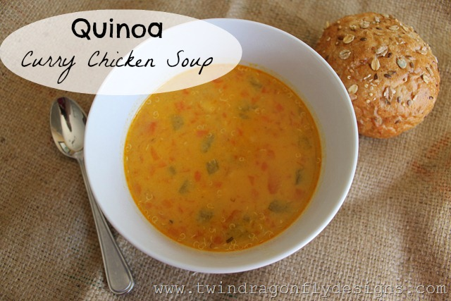 Quinoa Curry Chicken Soup