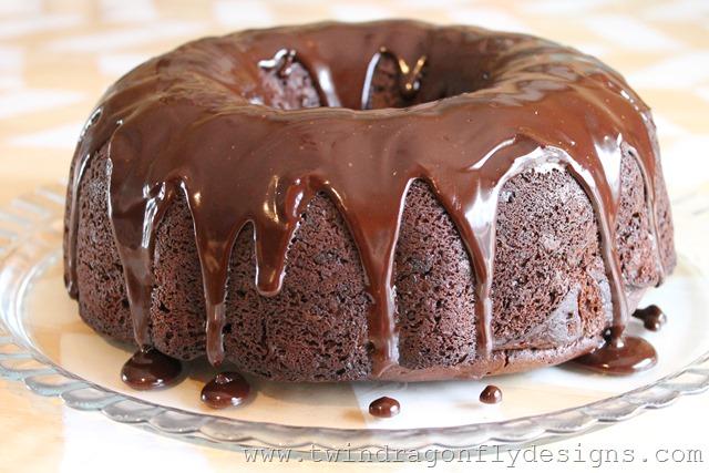 Chocolate Kahlua Cake with Chocolate Kahlua Ganache
