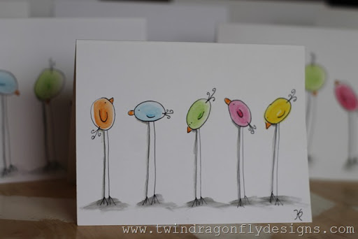 Watercolor Pencil Easter Chicks ~ a tutorial