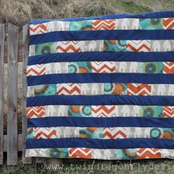 Toddlers in the Park Brick Quilt