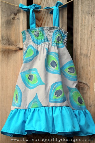 DIY Peacock Dress