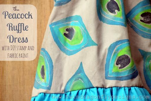 DIY Peacock Ruffle Dress