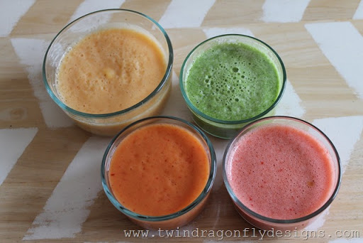 Fruit Puree and Green Smoothie Popsicles