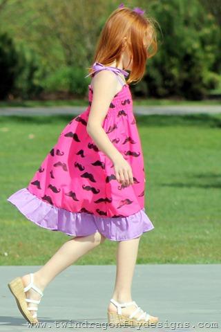 Pink Moustache Dress