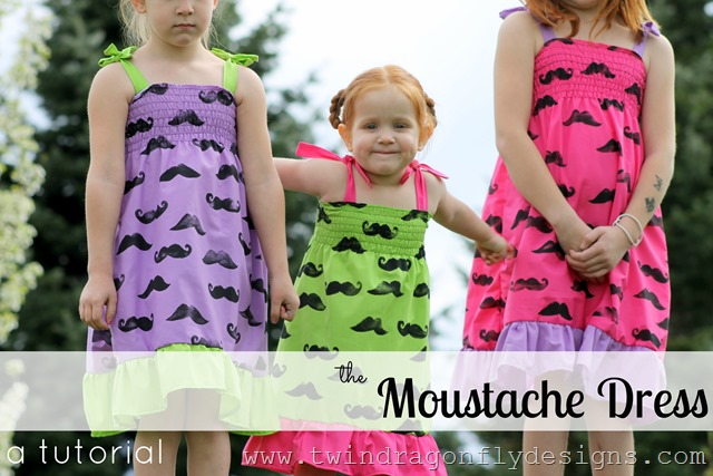 The Moustache Dress ~ a tutorial