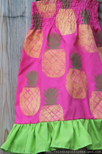 Pineapple Ruffle Dress (3)
