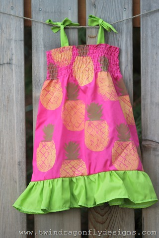 Pineapple Ruffle Dress (9)
