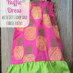 Pineapple Ruffle Dress