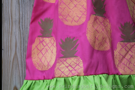 Pineapple Ruffle Dress (2)