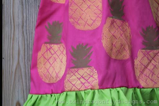 Pineapple Ruffle Dress