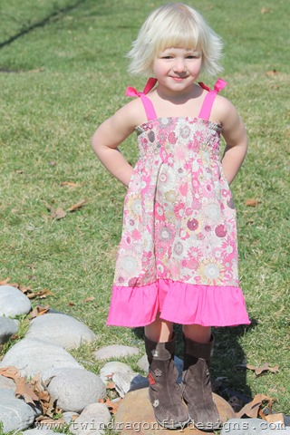 Spring Ruffle Dress Tutorial