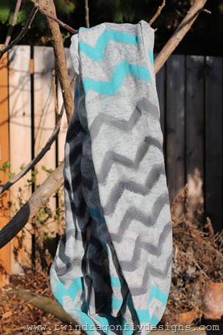 Upcycled Chevron Infinity Scarf (4)