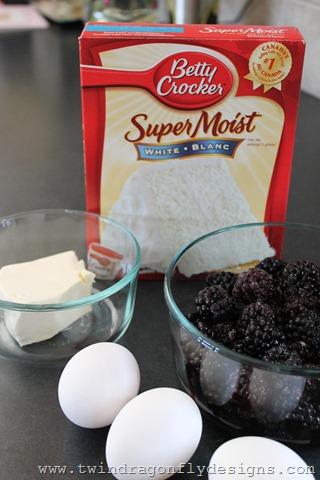 Blackberry Cream Cheese Upside Down Cake