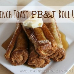 French Toast PB&J Roll Ups