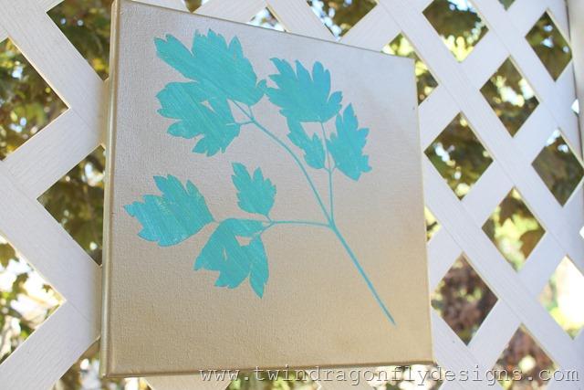 Plant Print Paintings