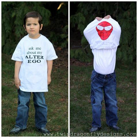 Superhero Flip T-shirt Tutorial