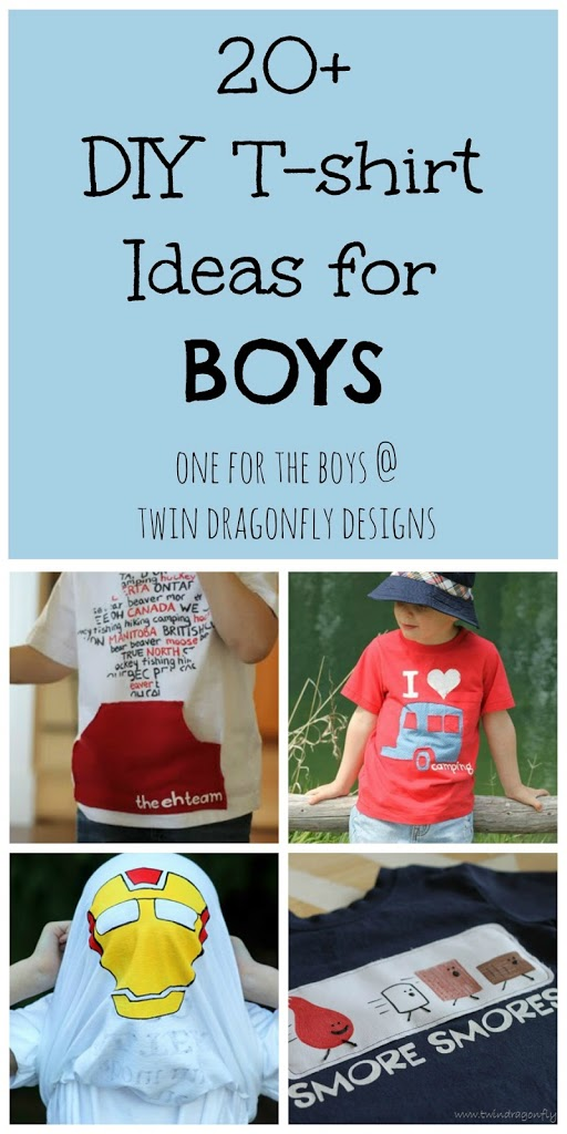 20+ DIY T-shirt Ideas for BOYS » Dragonfly Designs