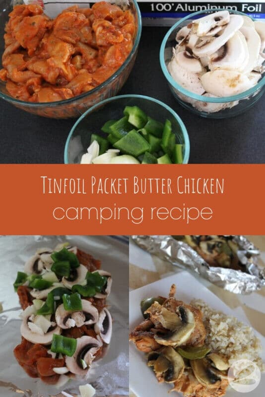 tinfoil packet butter chicken camping recipe