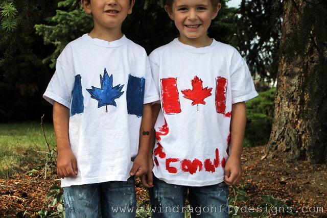DIY Canada Day T-shirts