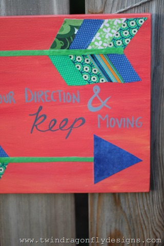 Fabric Arrow Canvas Quote (4)