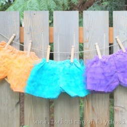 More Ruffle Shorts {bloomers}