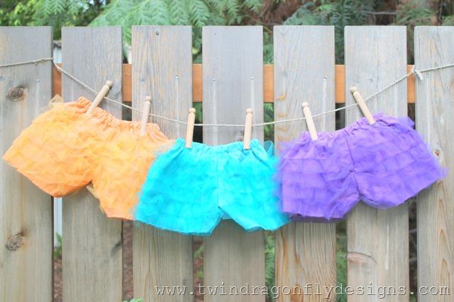 Tulle Ruffle Shorts