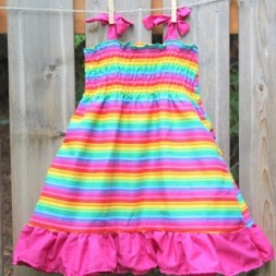 Rainbow Ruffle Dresses