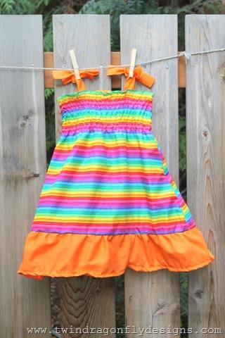 Rainbow Ruffle Dresses