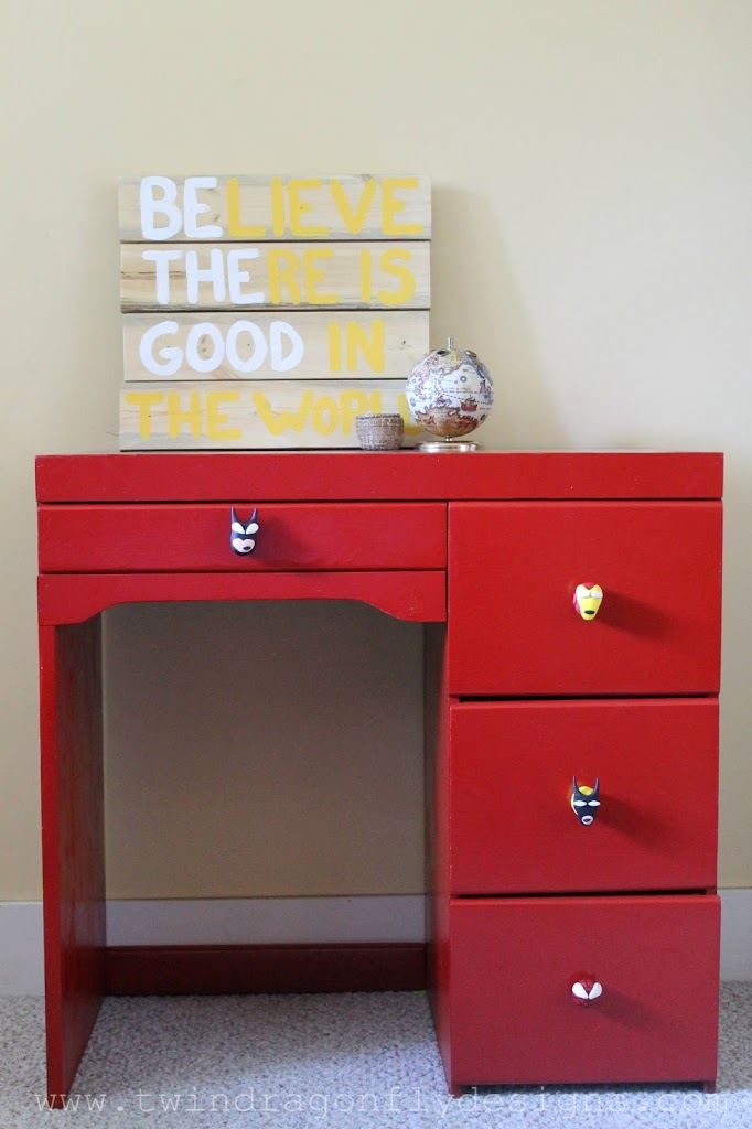 Red Superhero Desk featured on Roadkill Rescue