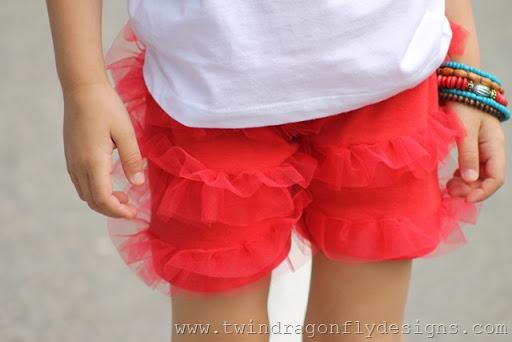 Tulle Ruffle Shorts Tutorial
