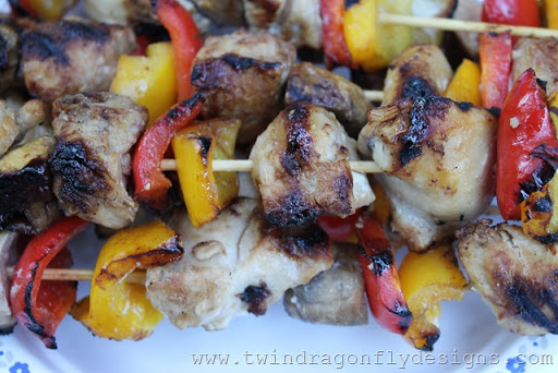 Honey Teriyaki Chicken Skewers (4)
