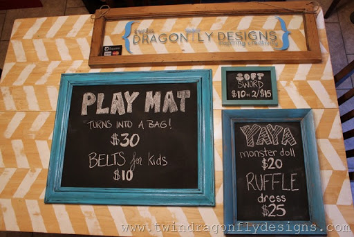 Craft Fair and Market Tips ~ DIY chalkboard signs