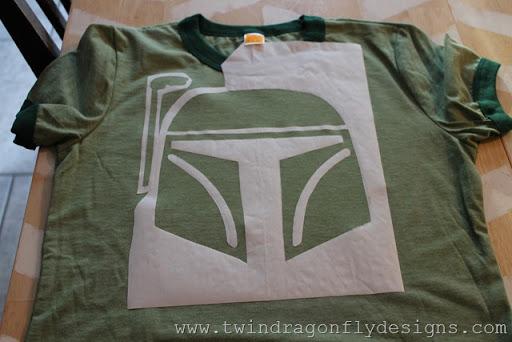 Star Wars Freezer Paper Stencilled T-shirt (2)