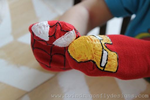 Super Hero Sock Puppet (18)