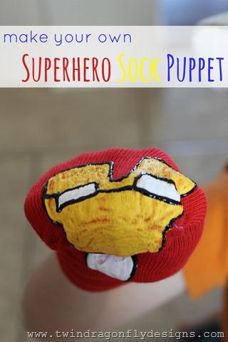 Super Hero Sock Puppet Title