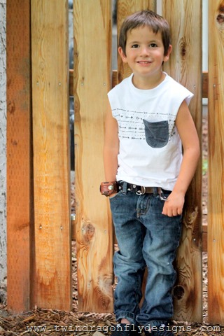 Upcycled Pocket Tank ~ What We Wore Wednesday