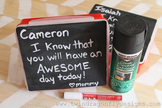 DIY Chalkboard Bento