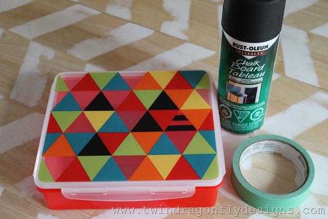 diy chalkboard bento dragonfly designs. Black Bedroom Furniture Sets. Home Design Ideas