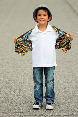 Reversible Superhero Vest ~ What We Wore Wednesday