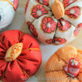 Scrap Fabric Pumpkins