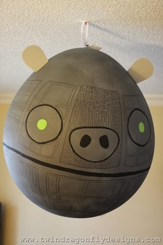 This Pig Death Star Was Brilliant. I Had No Idea If The Project Would Work  Until The Day Before The Party! This Is A 4ft Tall Balloon! Yes, A Balloon!
