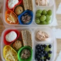 Crackers and Cream Cheese Bento