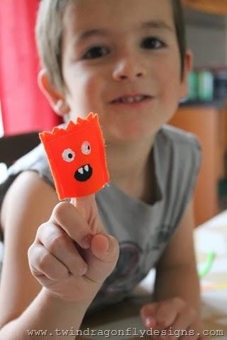 Monster Finger Puppets (4)