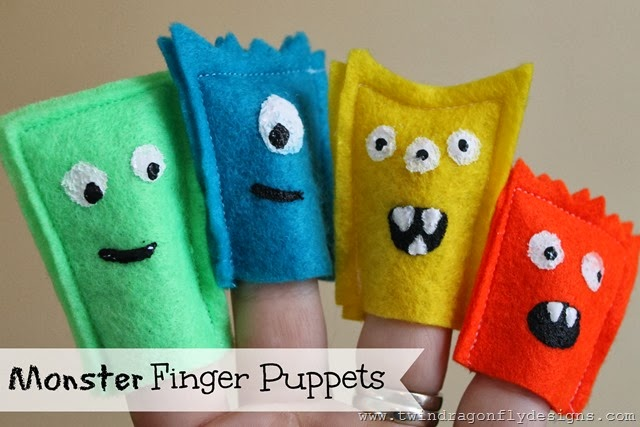 Monster Finger Puppets Title