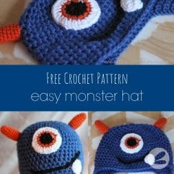 easy monster hat crochet pattern
