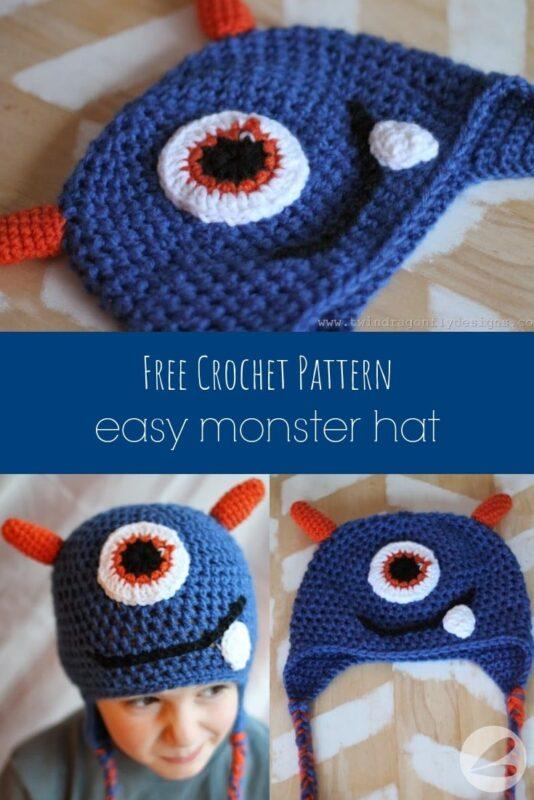 easy monster hat crochet pattern