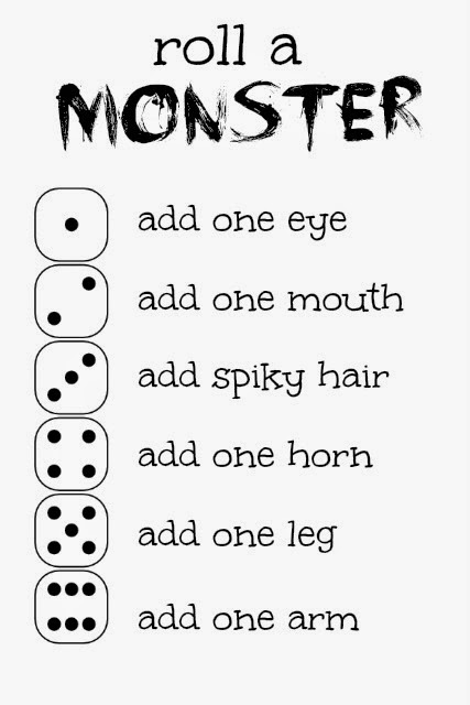Roll a Monster Game and Free Printable