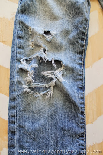 How to patch jeans (2)